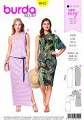 6412 Burda Pattern: Ladies Dress